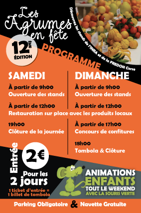 Programme 2017 des Agrumes en Fête