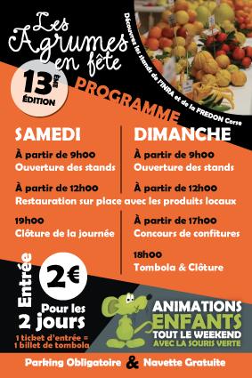 Programme 2018 des Agrumes en Fête